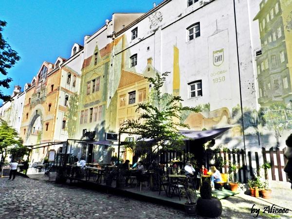 Strada-Skadarlija-centru-Belgrad