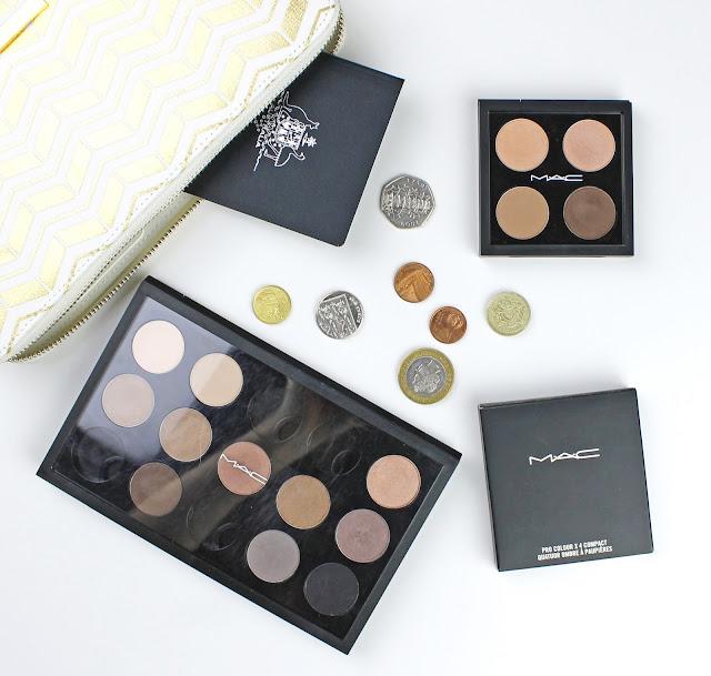 MAC eye shadow eyeshadow pro palette 15 travel palette 4 pans best favourites