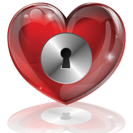 Locked heart icon