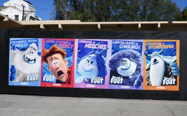Smallfoot character street posters