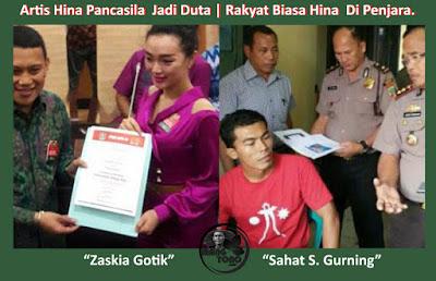 Artis Hina Pancasila Jadi Duta, Rakyat Biasa Hina  Di Penjara.