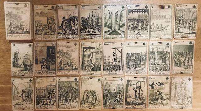 ANTICHE CARTE RIBELLIONE DI MONMOUTH, INGHILTERRA XVII SECOLO (1685) NO TAROCCHI