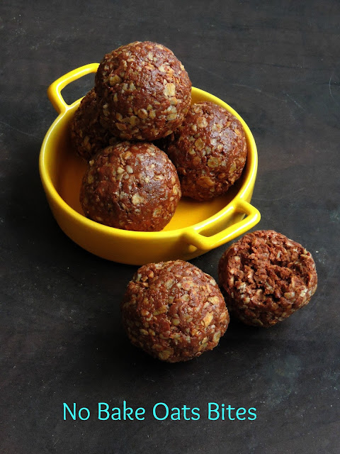 Vegan Oats bites, no baked oats balls