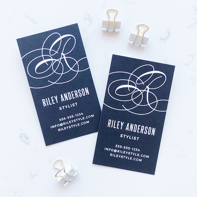 Design Your Own Business Cards with Itsy Bits And Pieces Blog and Basic Invite