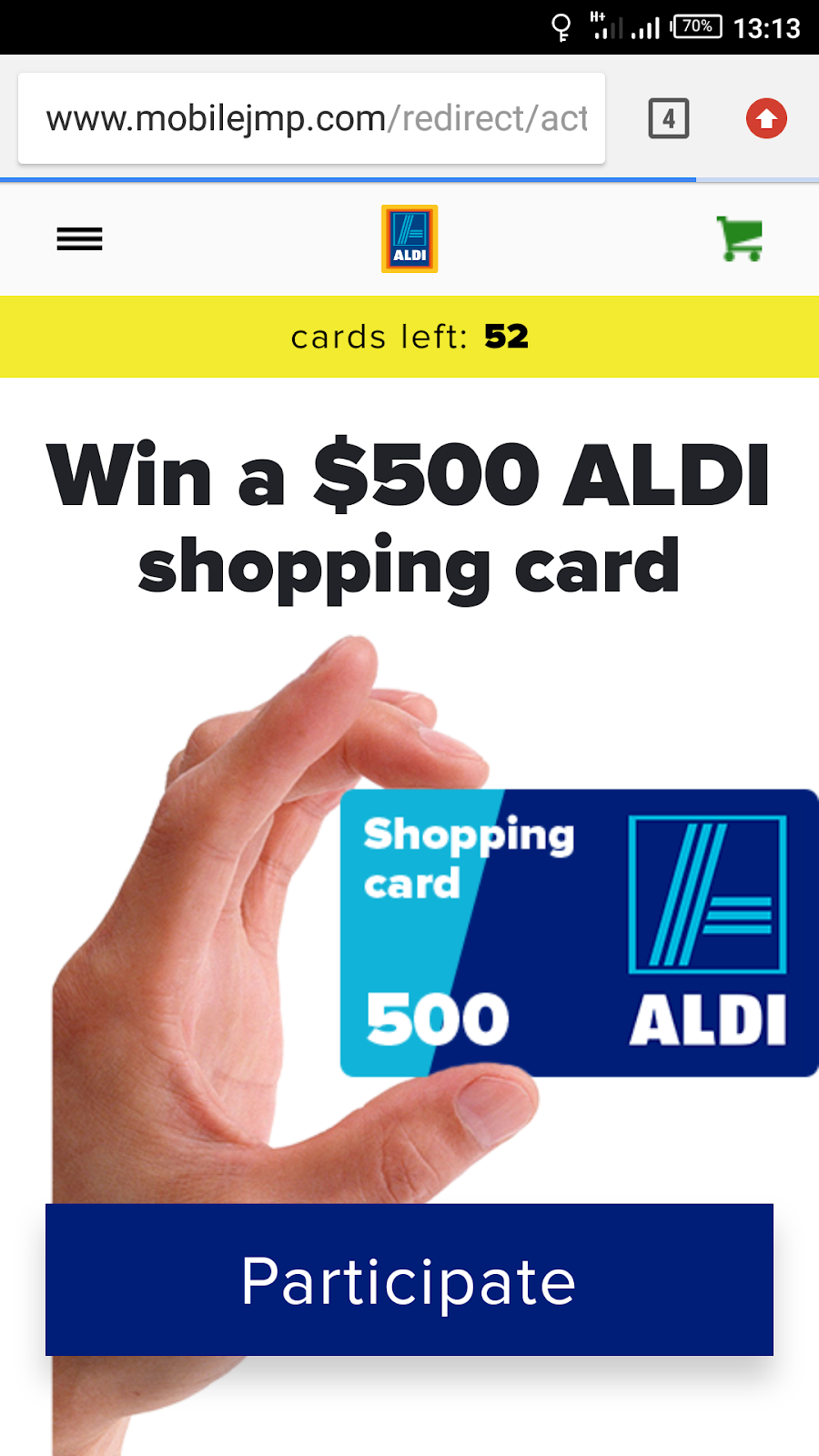 Purchase aldi gift card