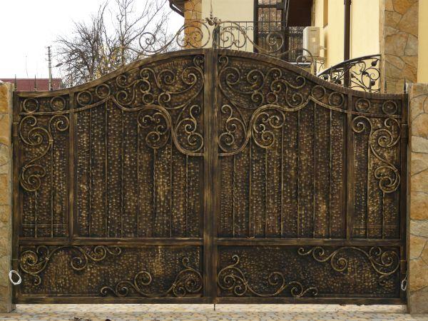 model pagar besi tempa pintu gerbang | wrought iron gate tangerang