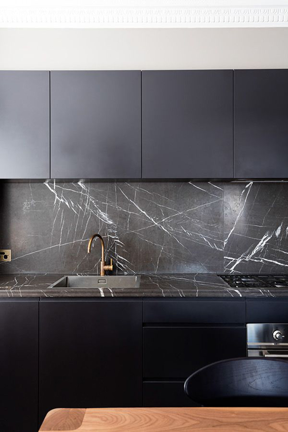 Black Kitchen Backsplash Ideas