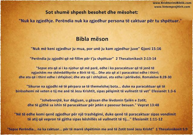 zgjedhja e Perendise, mesime biblike,