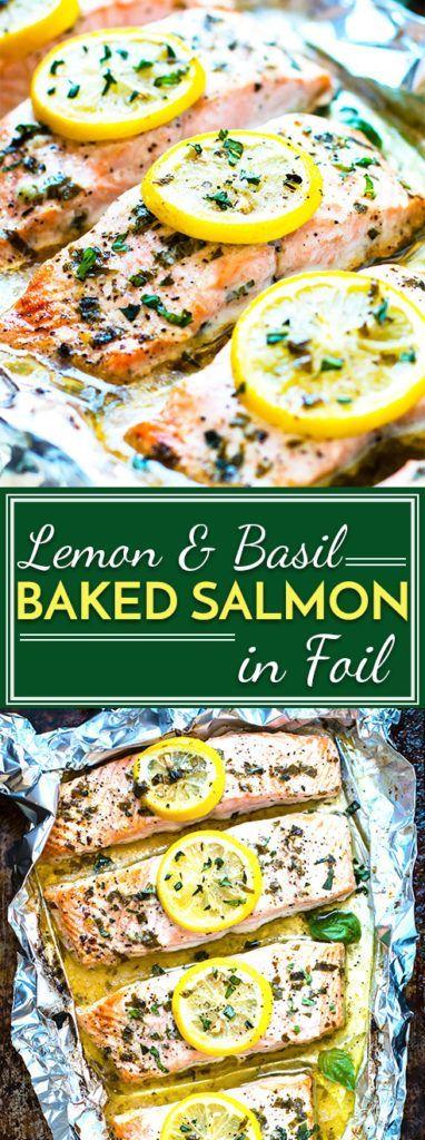 Basìl & Lemon Baked Salmon