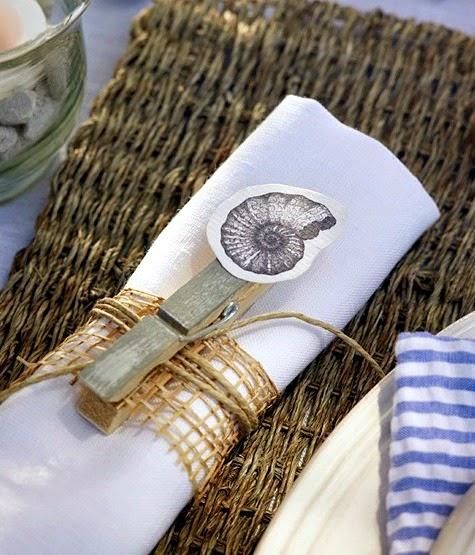 Clothespin Napkin Holder Idea