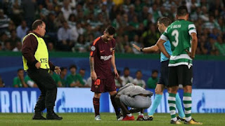 UEFA charge Sporting Lisbon after fan kissed Messi's boot