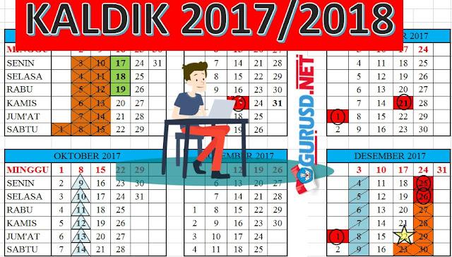 Kalender Pendidikan 2017/2018 Lengkap Dengan Hari Efektif