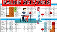 Kalender Pendidikan 2017/2018 Dengan Rincian Hari Efektif nya