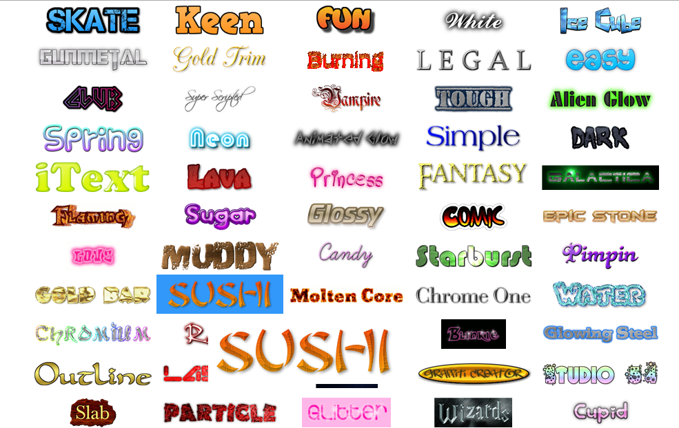 Todo est en la nube cool text generador de logos y gr ficos for Generador de logos