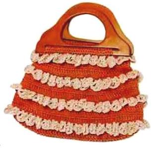 Сумка с оборками. Bag with Ruffles