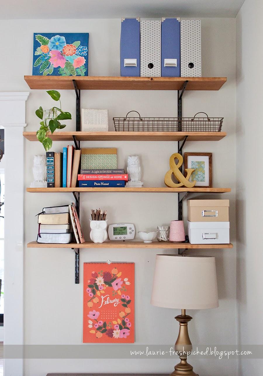 fresh picked home updates living room shelves. Black Bedroom Furniture Sets. Home Design Ideas