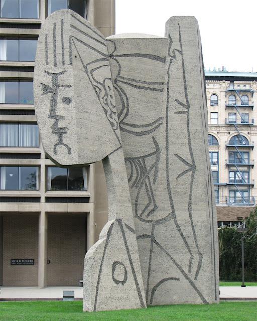 Bust of Sylvette by Carl Nesjar, University Village, Greenwich Village, New York
