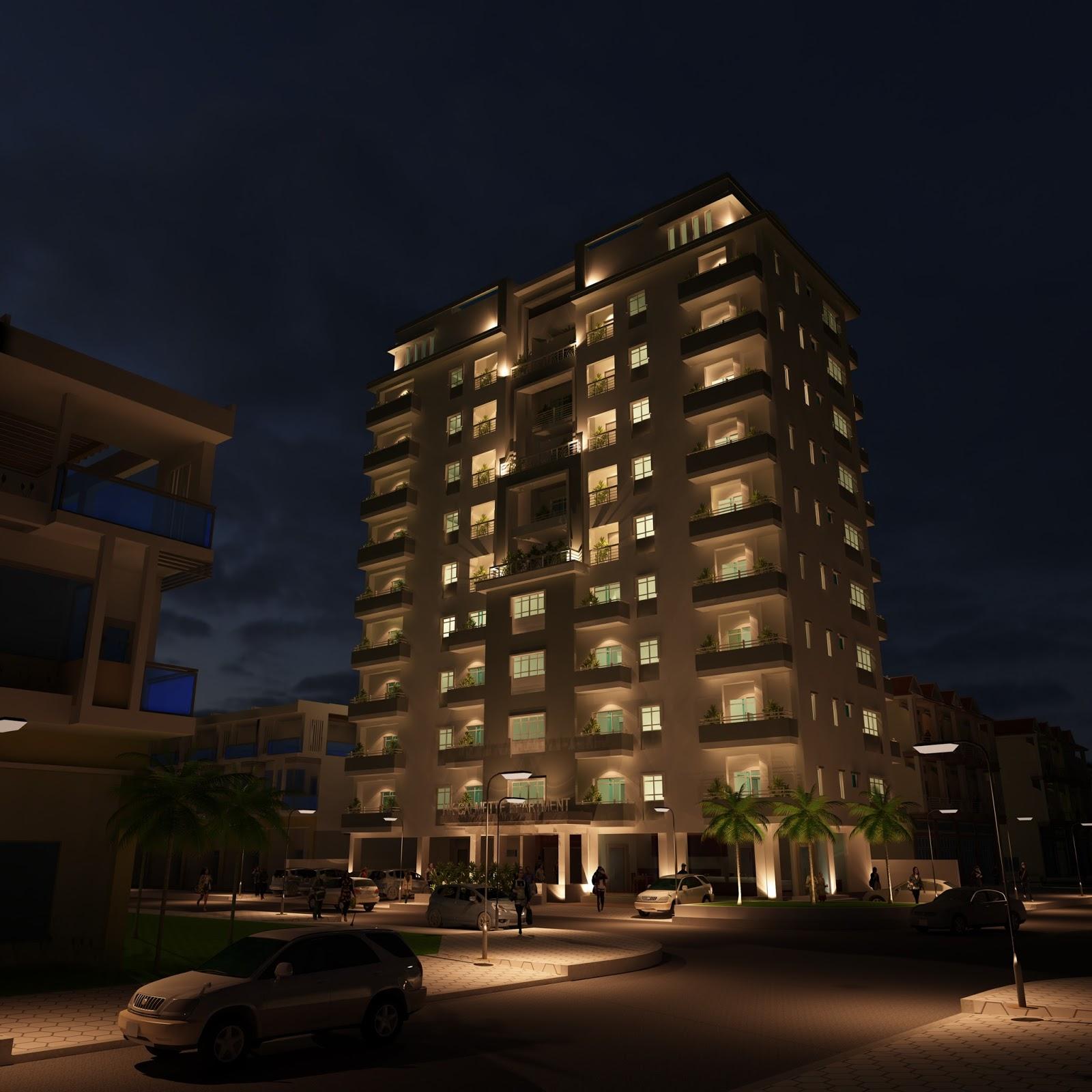 Apartment Exterior: Architect Apartment Exterior Design Sketchup Model Ref 003