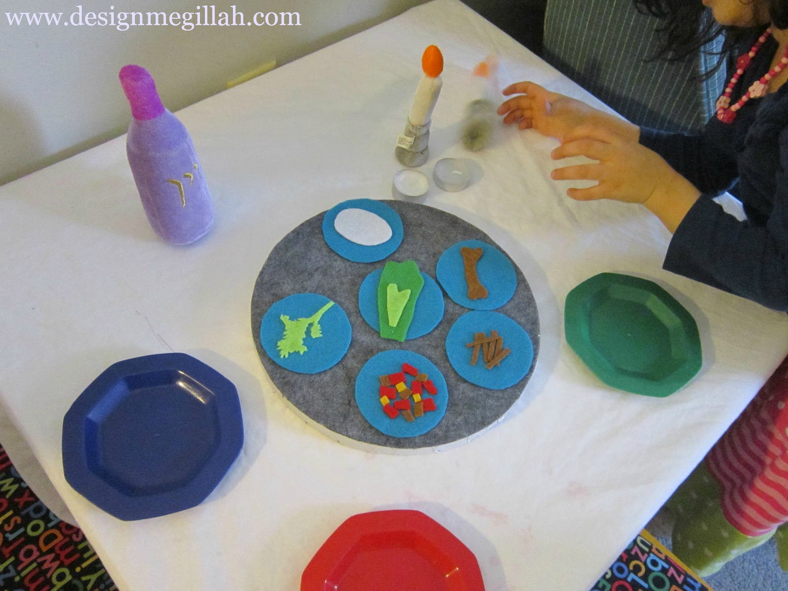 Design Megillah A Felt Seder Plate For Kids