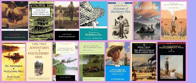 portadas de la novela clásica picaresca juvenil de aventuras Huckleberry Finn
