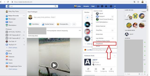 Pengaturan Facebook