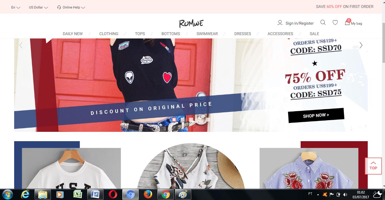 Comprar roupas baratas na China site Romwe. Escrito por  Fernanda Caterina Estilo  Modas e Manias ... 770a23bbcccff