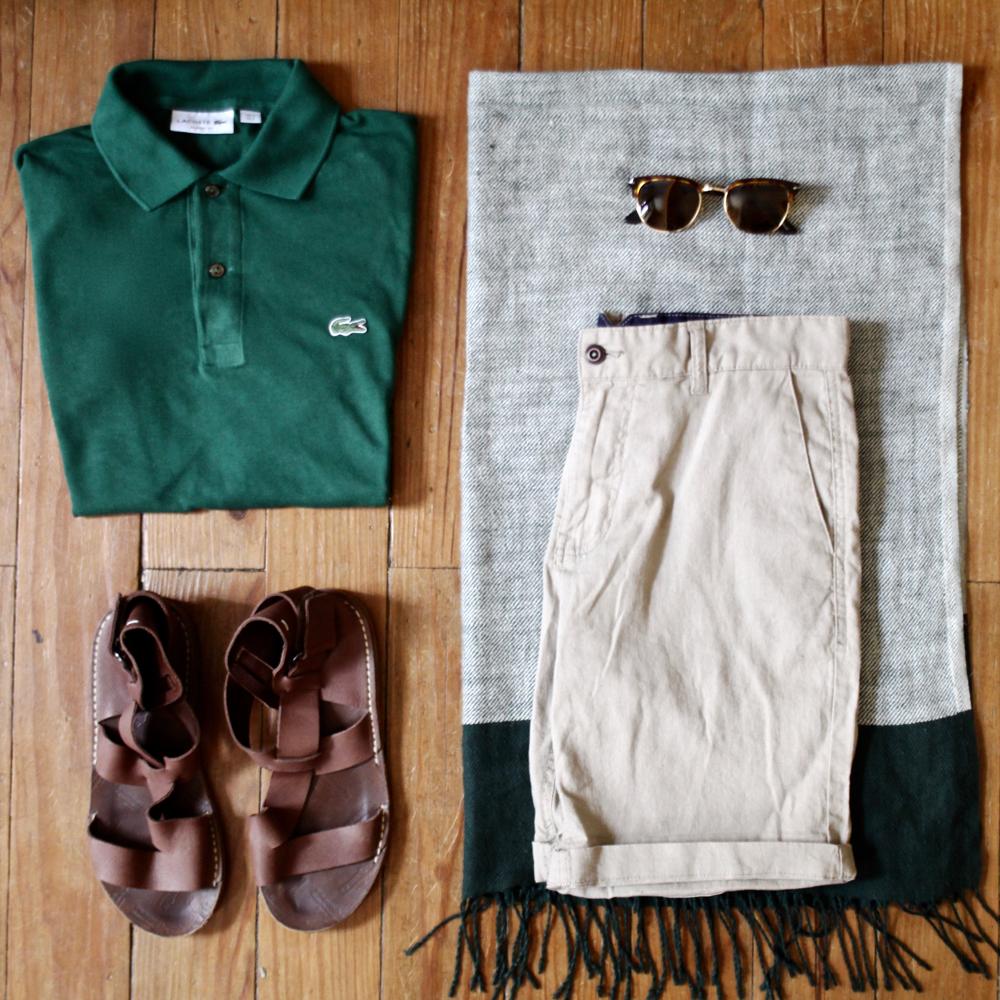 BLOG-MODE-HOMME-VOYAGE-STYLE_polo-été-lacoste-ralph-lauren-sandales-margiela-inspiration-look-house-of-fraser-tshirt-shorts