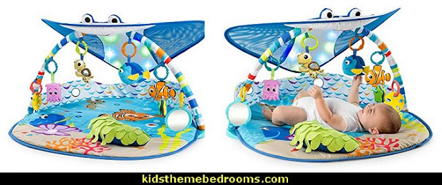 Disney Baby Mr. Ray Ocean Lights Activity Gym  under the sea baby bedroom decorating ideas - ocean theme baby bedroom ideas - under the sea nursery decorating - under the sea wall murals - ocean wall decal stickers - fish theme - beach theme - mermaid theme