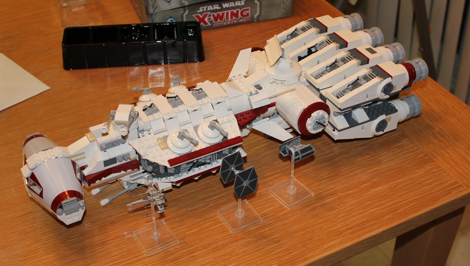 Sons of Twilight: X-Wing Miniatures Meet Lego Corellian Corvette