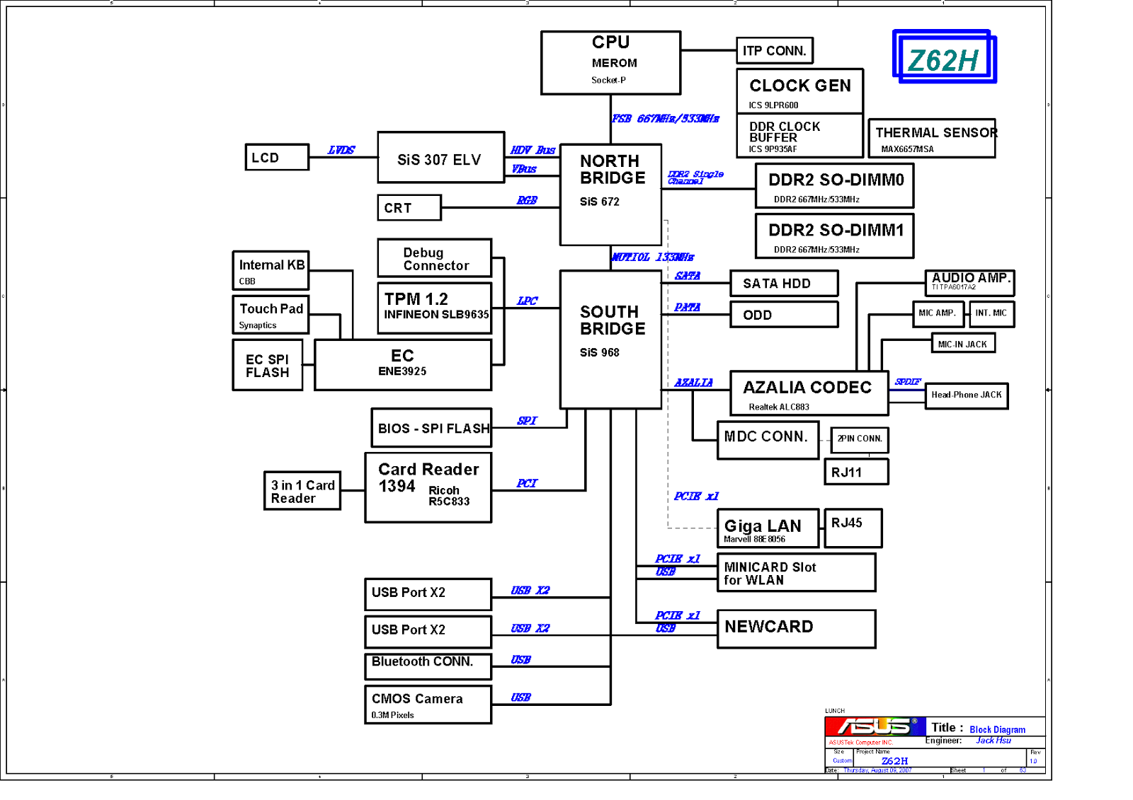 Asus Motherboard Schematic