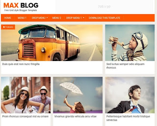 Max blog photography blogger template