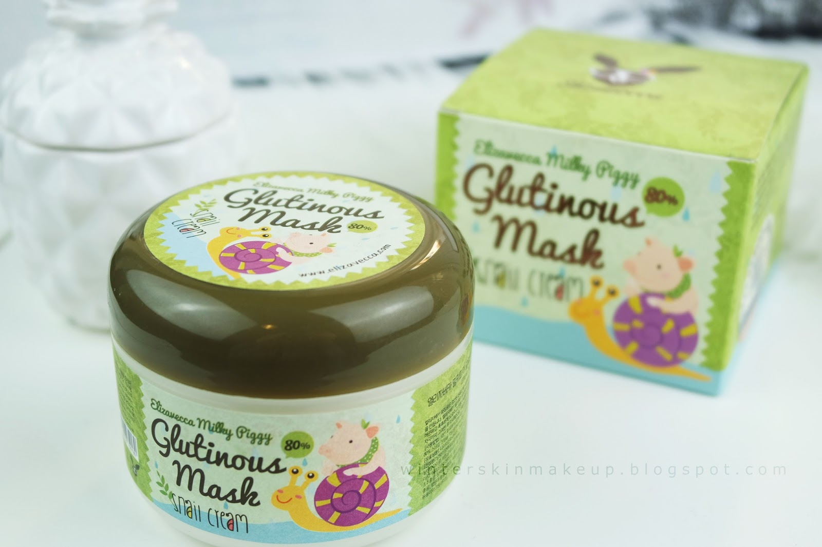 Elizavecca Milky Piggy Glutinous Mask Snail Cream