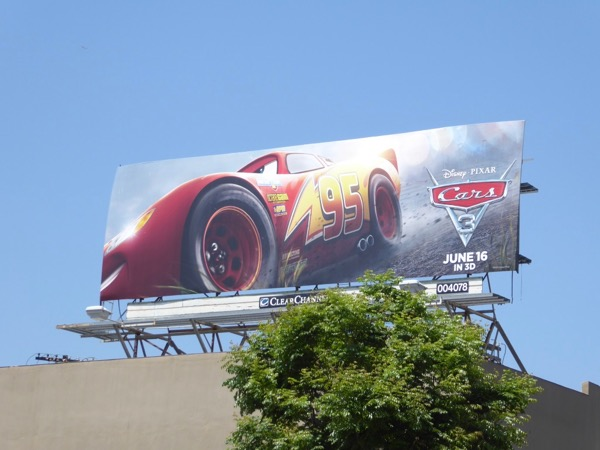 Lightning McQueen Cars 3 film billboard