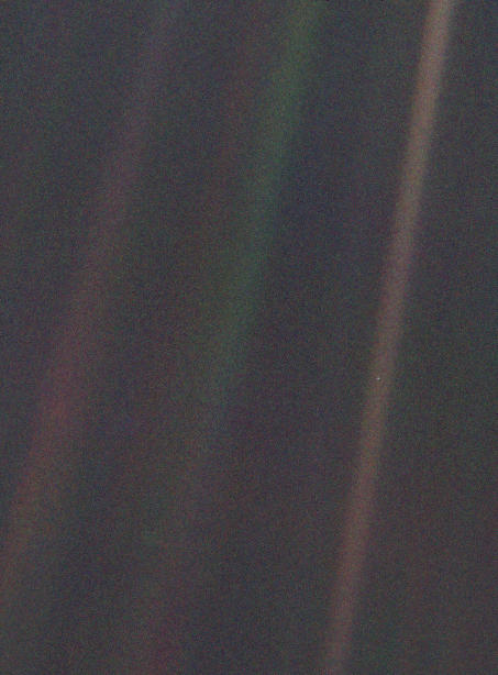 """Pale Blue Dot"". NASA, 1990"