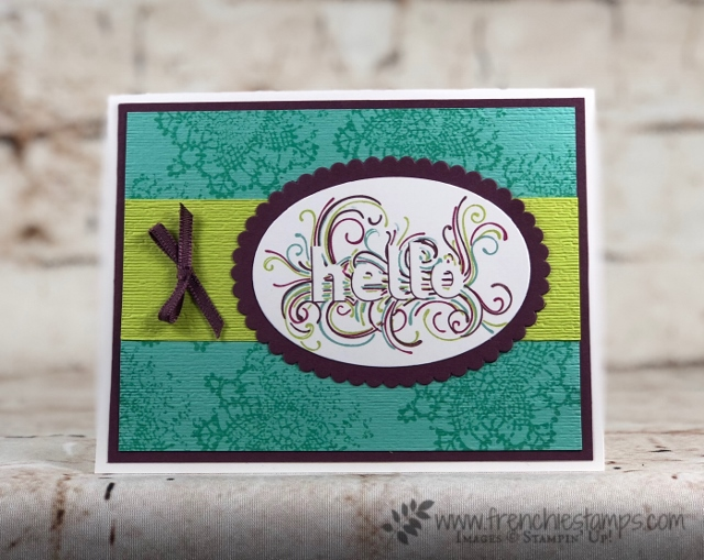 Ready to Layer, Subtle Embossing Folder, Very Vintage, Stampin'Up! Frenchiestamps,