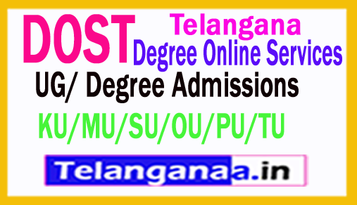 Telangana DOST UG Degree Admission 2018 Online Application