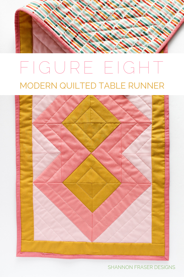 Figure Eight modern quilted table runner from Emily Dennis Modern Quilts Block by Bloock book