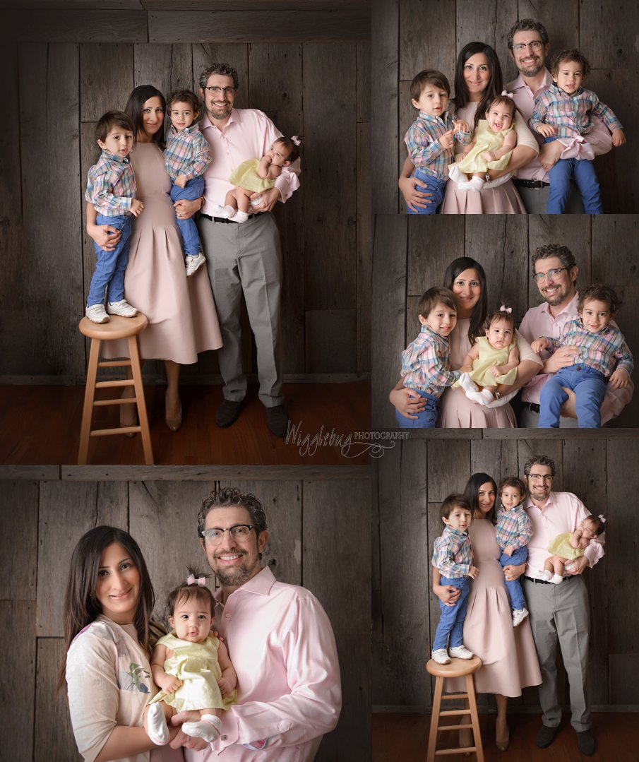 Rockford family comes to DeKalb, IL Photography Studio for family and milestone photos