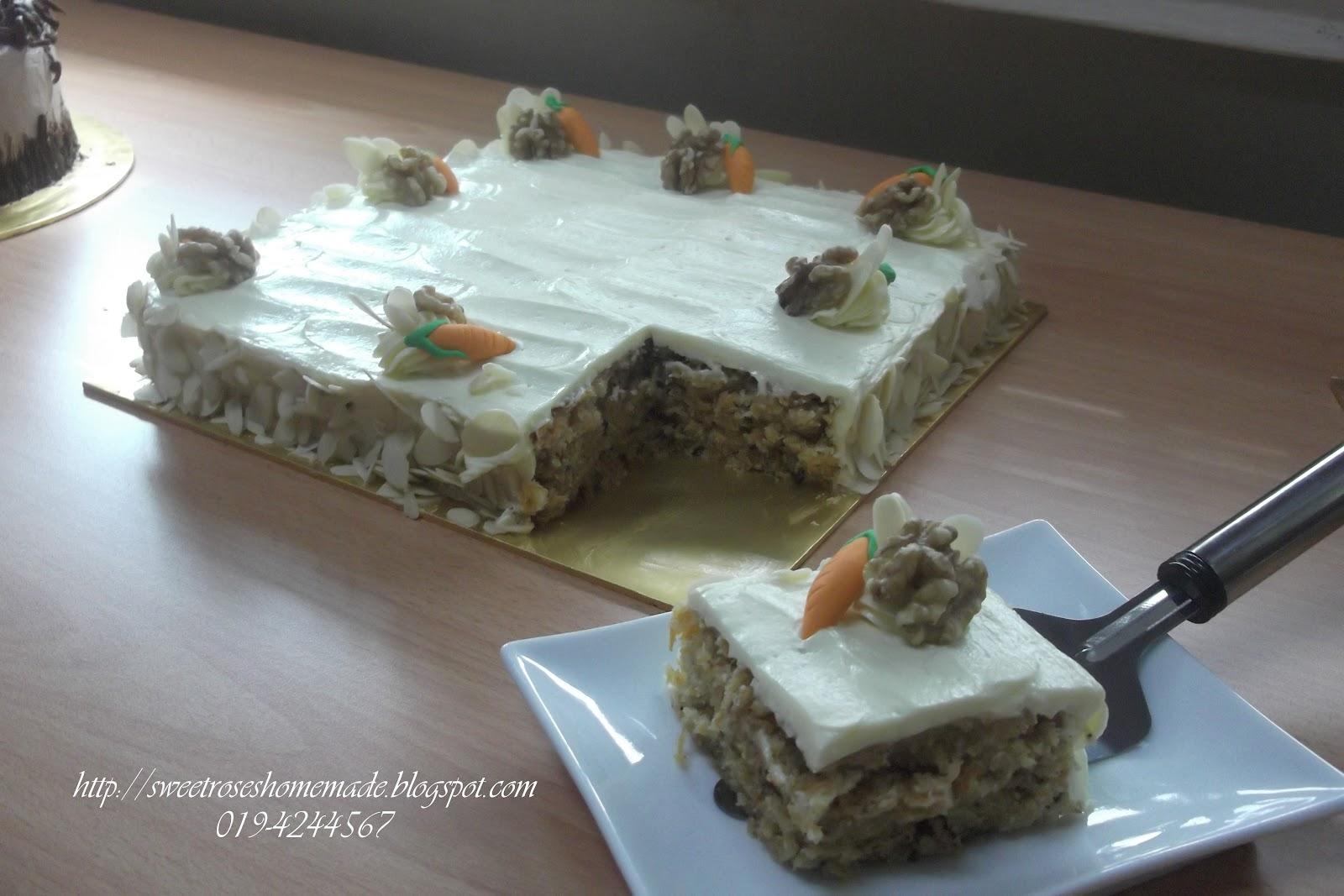 Resepi Walnut Carrot Cake