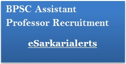 BPSC Assistant Professor Recruitment