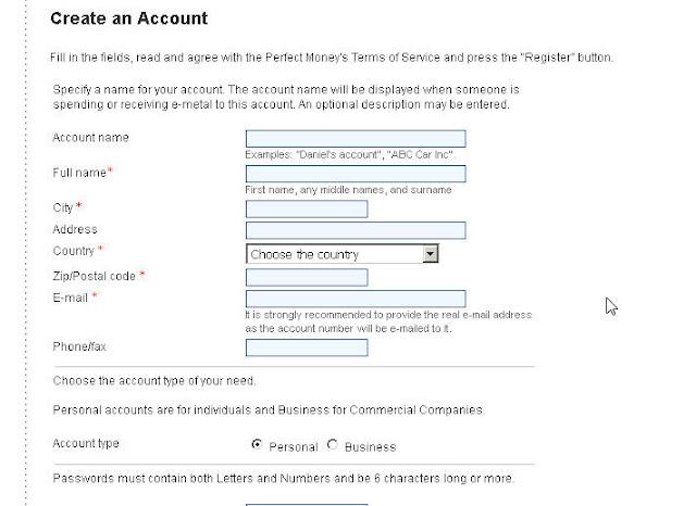 hướng dẫn đăng ký perfect money bước 2