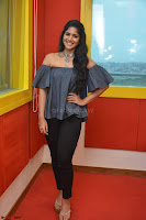 Mega Akash in a sleeveless Off Shoulder Cute Dress Stunnign beauty at Radio Mirchi Promoting Movie LIE ~ Celebrities Galleries 053.JPG