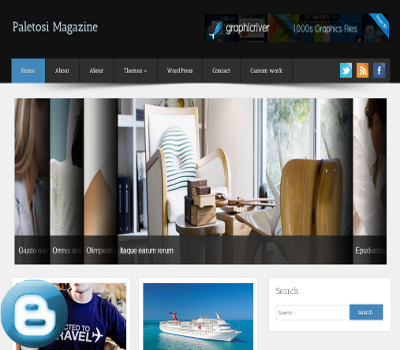 Poletosi Magazine Blogger Template