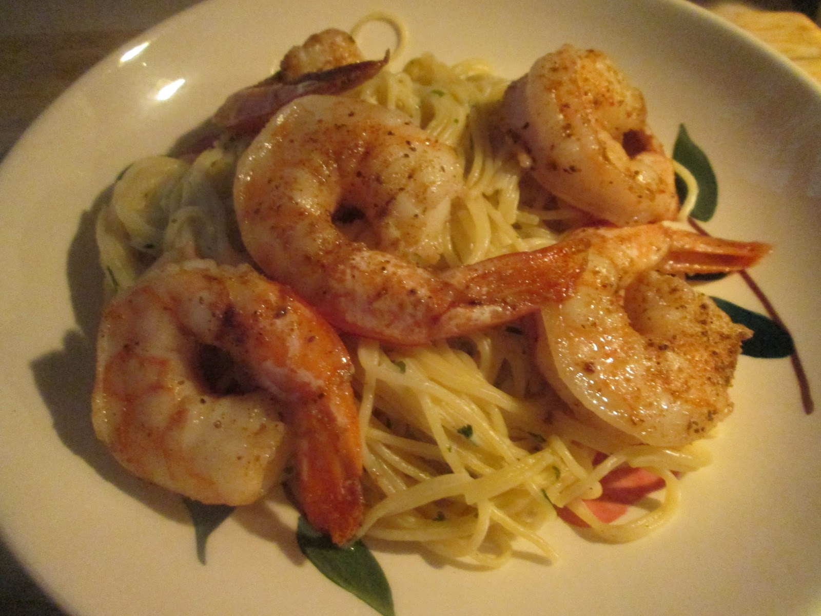 Dinner Tonight Leftover Shrimp W Pasta Roni Angel Hair With Herbs And Garlic Oval Loaf Bread