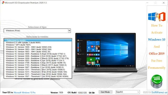 Microsoft ISO Downloader Premium 2020 imagenes