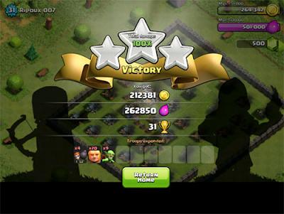 Trik Menyerang untuk mendapat Gold dan Elixr