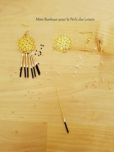 boucle d'oreille, navajo, bijoux, mini bonheur, DIY, perle des loisirs