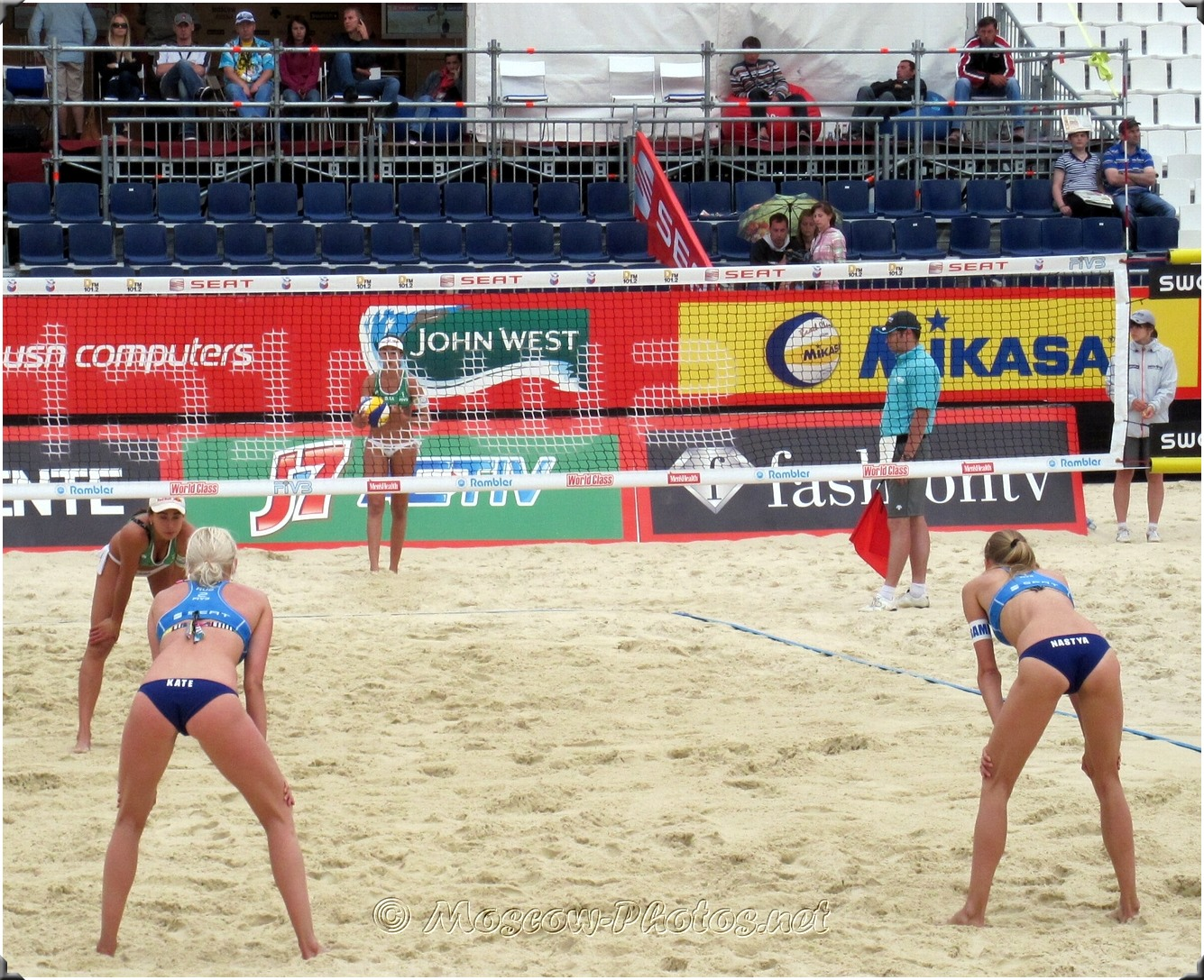 Defensive Formation Of Russian Beach Volleyball Team