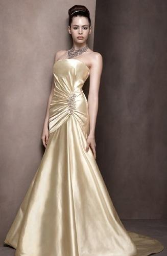 I Heart Wedding Dress: Gold Wedding Dress