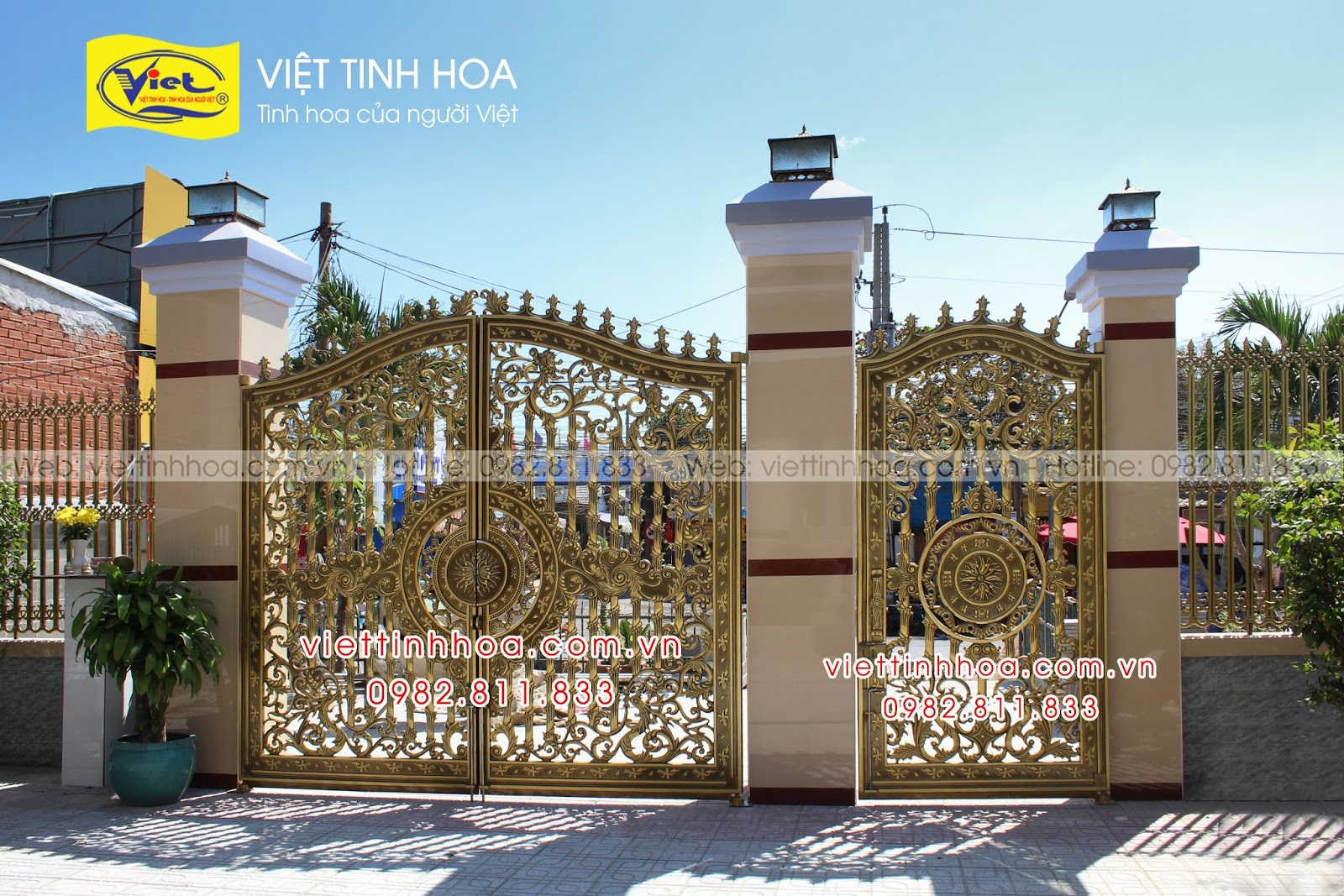 Cổng Nhôm Đúc Châu Thành